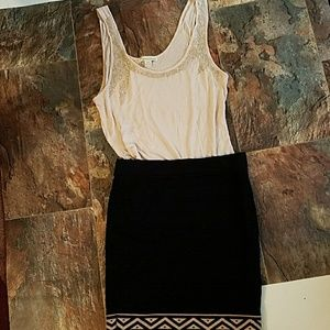 Tribal Edge Mini Skirt Forever 21 Size M